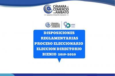 Disposiciones reglamentarias - Elecciones de director